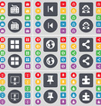 Keyboard Media skip Avatar Apps Earth Share vector image vector image