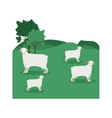 landscape with sheep and trees vector image vector image