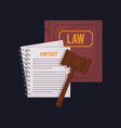 law book icon vector image