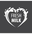 logo milk vector image vector image