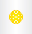 magnifiers in circle yellow sun icon vector image