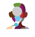 male head silhouette vector image vector image