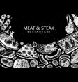meat and steak design hand drawn food mea vector image