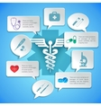 Medical paper infographic vector image vector image