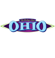 Ohio The Buckeye State vector image vector image