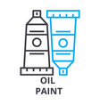 oil paint thin line icon sign symbol vector image vector image