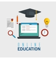 online education isolated icon vector image