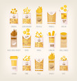 packages dry pasta vector image vector image