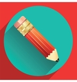 Pencil in the center of the circle vector image vector image