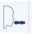 people speaking or singing sign navy line vector image vector image