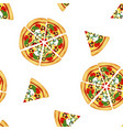 pizza seamless pattern isolated on white vector image