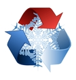 Save heat energy recycle symbol vector image