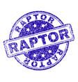 scratched textured raptor stamp seal vector image