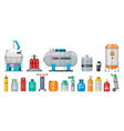 set gas cylinder safety fuel tank of vector image