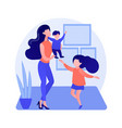 single parent abstract concept vector image vector image