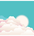 sky with beautifull clouds and sunrise nature vector image vector image