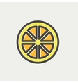 Sliced of lemon thin line icon vector image vector image