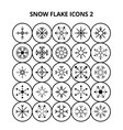 snow flake icons vector image vector image