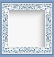 square frame with lace border pattern vector image vector image