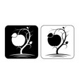 stylized image an apple tree with fruit vector image