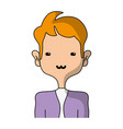 tender man with elegant clothes and hairstyle vector image vector image