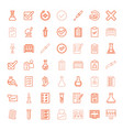 test icons vector image vector image