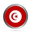 Tunisia flag button vector image vector image