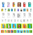 variety of terminals cartoon icons in set vector image vector image