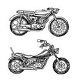 vintage motorcycles collection bicycles vector image vector image