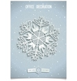 White 3D stylised snowflake vector image vector image