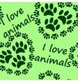 I love animals seamless pattern vector image