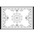 Decorative antique oriental pattern vector image