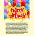 abstract celebrating birthday party poster vector image vector image