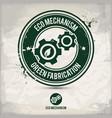 alternative eco mechanism stamp vector image