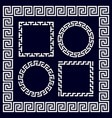 ancient greek round and rectangular border frames vector image vector image