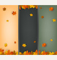 autumn background collection falling leaves vector image vector image