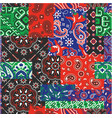 bandanna kerchief fabric patchwork vector image