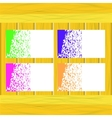 Banners of Colored Splashes Paint vector image