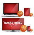 basketball application field basketball vector image vector image