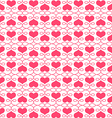 Beautiful seamless pattern with hearts vector image
