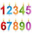 Birthday number candle set vector image vector image