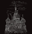 black hand drawing moscow 6 vector image