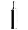 bottle sketch vector image vector image