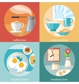Breakfast time concept icons vector image vector image