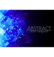 Bright blue grid abstract horizontal background vector image vector image