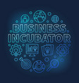 business incubator round blue outline vector image vector image
