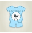 Card in the form of clothing Baby shower vector image vector image
