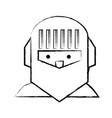cartoon knight icon vector image