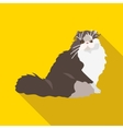 Cats of different breeds with long shadow vector image vector image