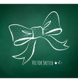 Chalkboard drawing of a bow